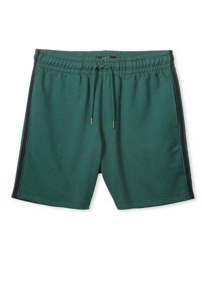 Sport Fleece Short, BOTANICAL GARDEN/BLACK STRIPE