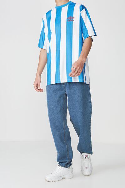 Straight Leg Denim Jean, BRIGHT BLUE