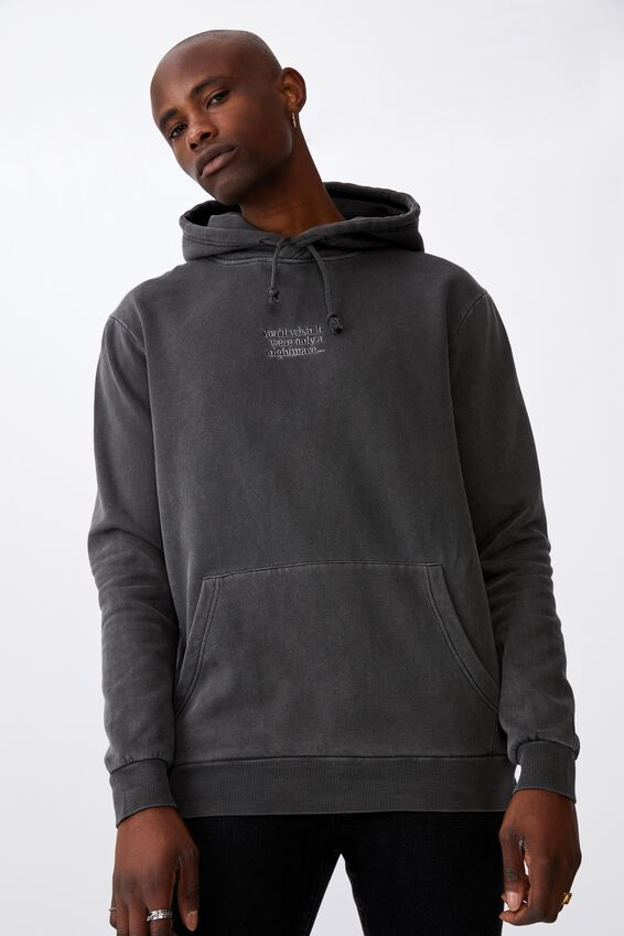 Elevated License Hoodie, WASHED BLACK/ONLY A NIGHTMARE
