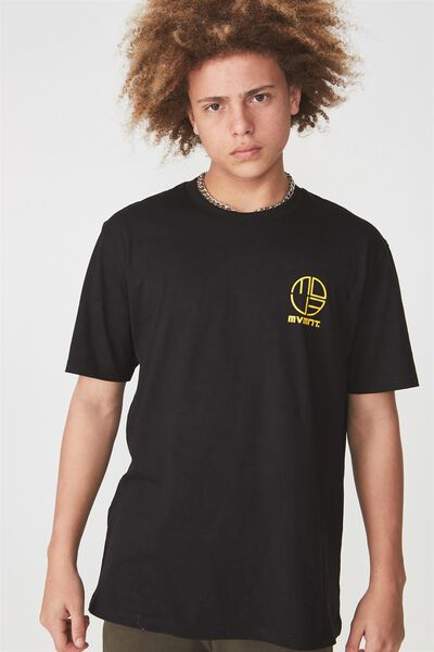 Graphic T Shirt, BLACK/MVMNT