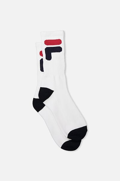 Fila Ribbed Sock, FILA LCN_WHITE F