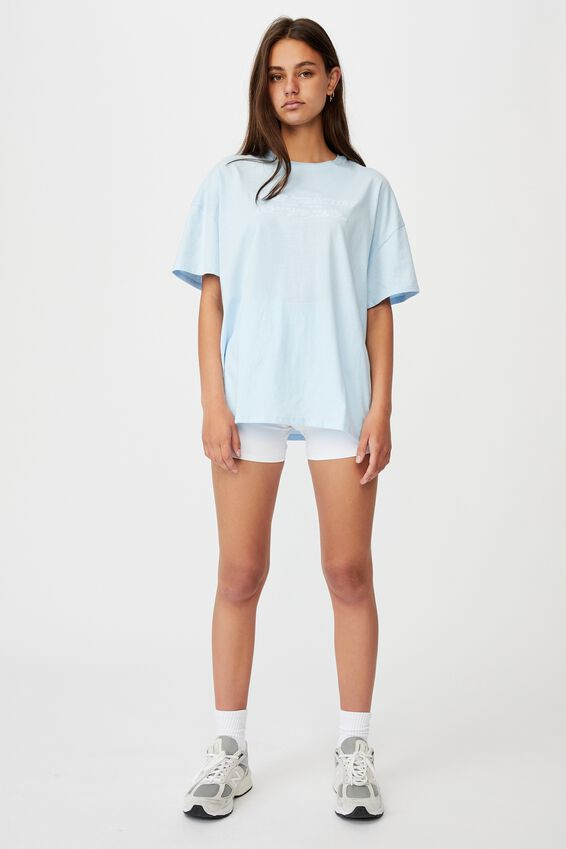 Super Relaxed Graphic Tee, SKYWAY BLUE/NEW SEASON