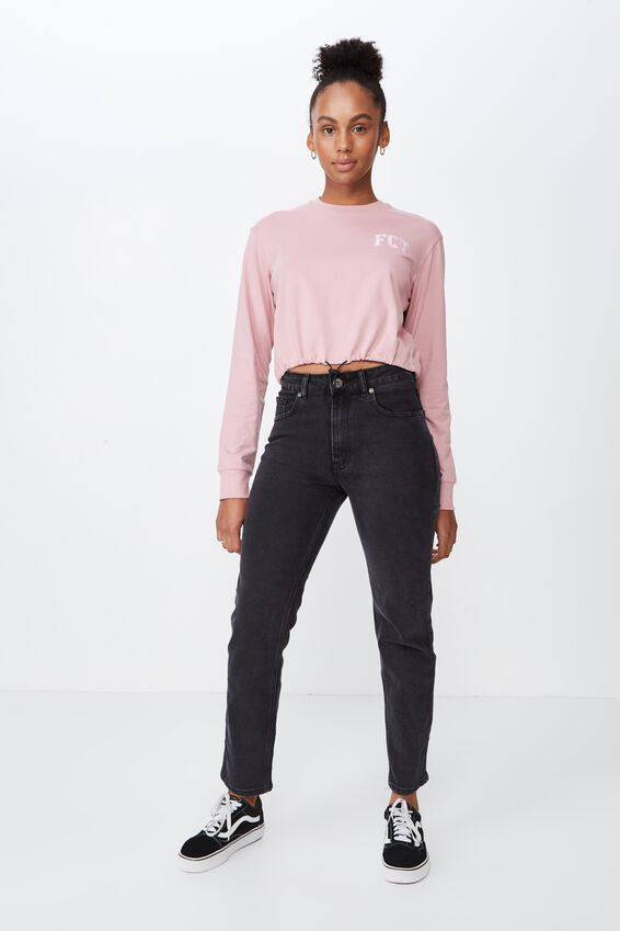 High Rise Straight Leg Jean 2, THRIFT BLACK