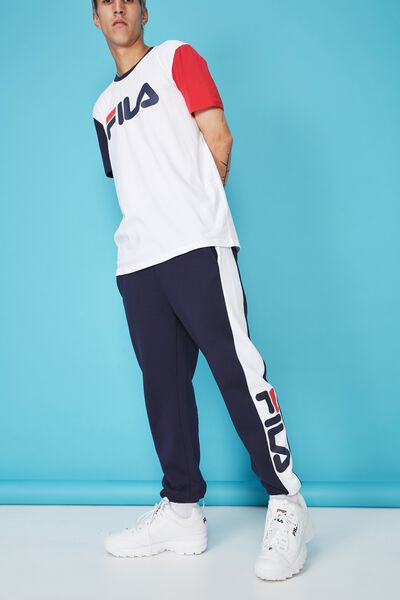 Fila Lcn Side Panel Track Pant, NAVY/OPTIC WHITE