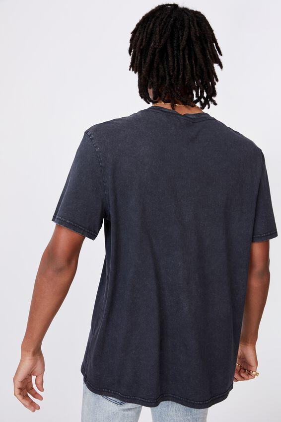Regular License T Shirt, LCN MIS WASHED BLACK/MISFITS