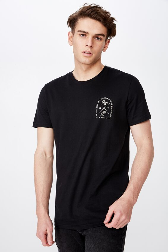 Slim Graphic T Shirt, BLACK/NYC