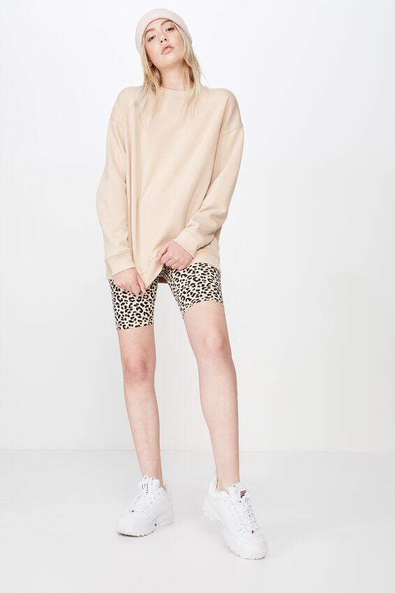 Oversized Crew Neck Sweater, MOONLIGHT