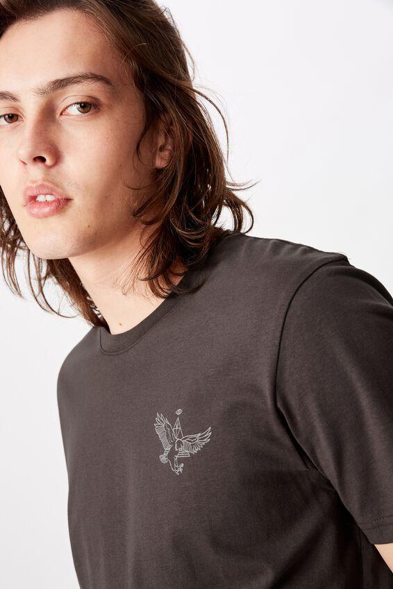 Slim Graphic T Shirt, ASPHALT/EAGLE EYE