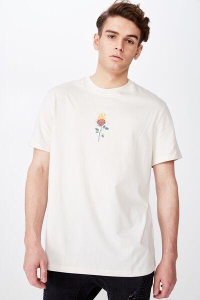 Regular Graphic T Shirt, IVORY/NOT ME