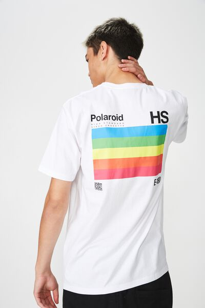 Polaroid Lcn Short Sleeve T Shirt, WHITE/POLAROID BOX
