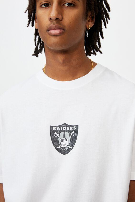 Regular License T Shirt, LCN NFL WHITE/RAIDERS FRONT