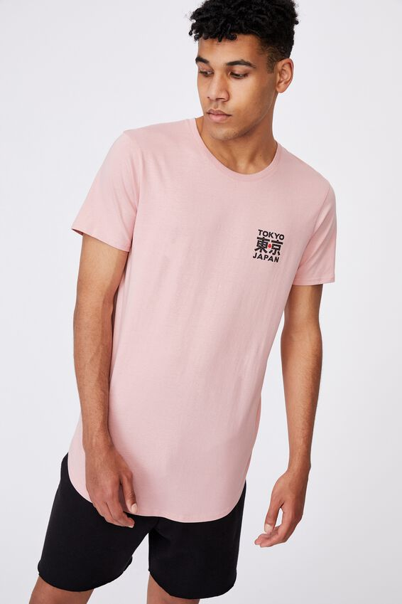 Curved Graphic T Shirt, SOFT PINK/TOKYO JAPAN