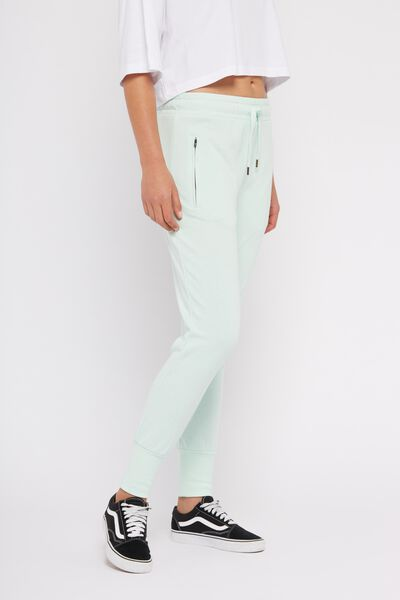 Skinny Fit Trackpant 2, HONEY DEW