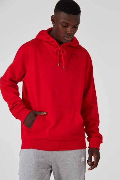 Plain Hoodie, FIRE ENGINE RED