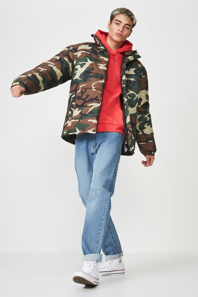 Puffer Jacket, CAMO
