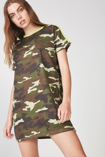 Tshirt Dress, RAMBO CAMO_TAPE