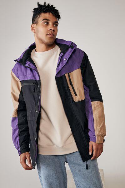 Summit Parka, PURPLE/TAN/BLACK