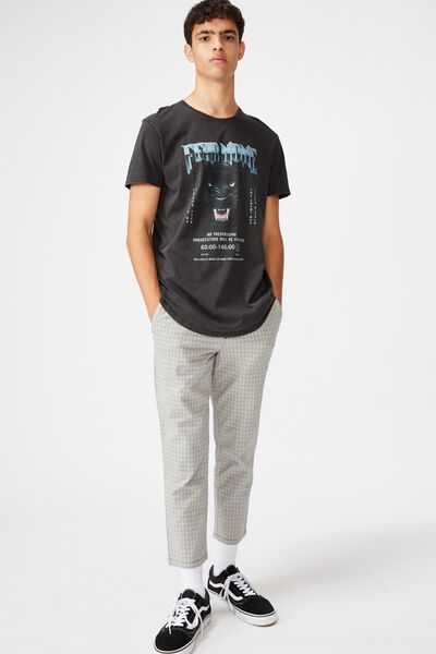 Relaxed Tapered Leg Pant, GREY DEVON CHECK