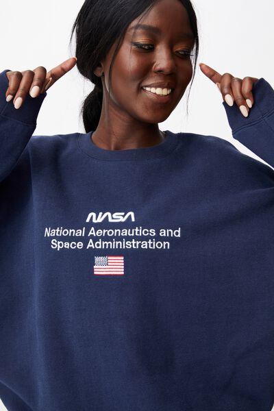 Lcn Oversized Pop Culture Graphic Crew, LCN NAS NAVY/NASA ADMIN