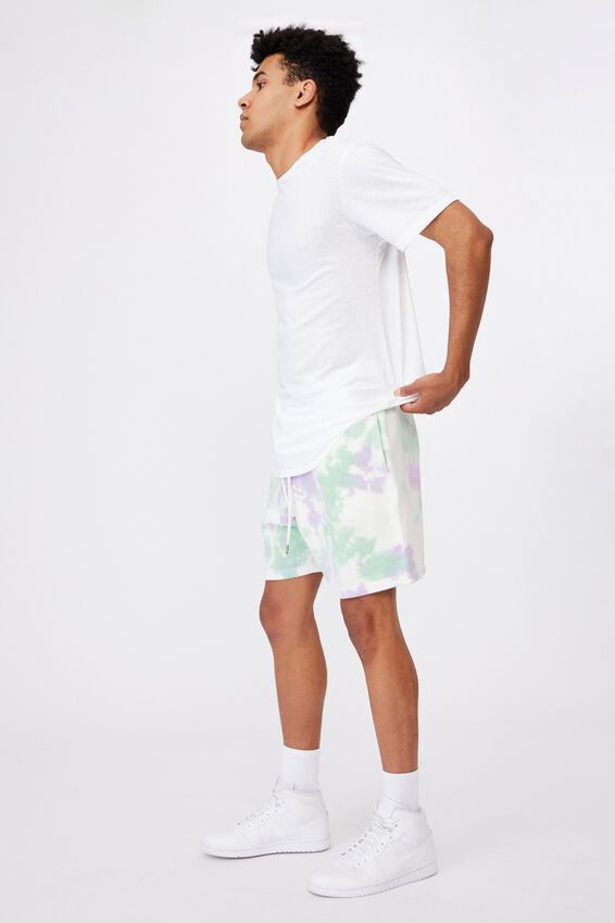 Tie Dye Track Short, MINT GRAPE TIE DYE