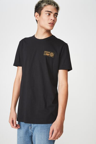 Graphic T Shirt, BLACK/UNSBSCRB