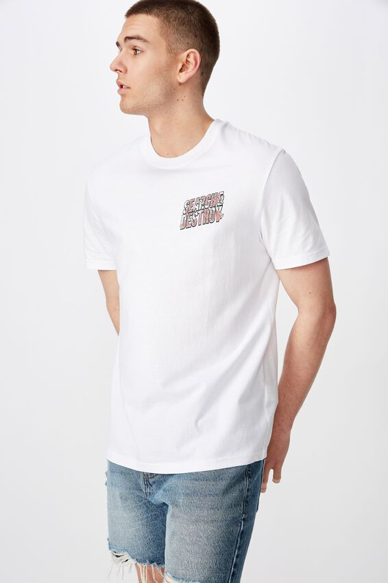 Regular Graphic T Shirt, WHITE/SEARCH