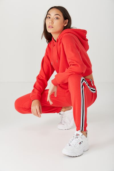 Trenton Trackpant, BOLD RED_BLK AND WHT