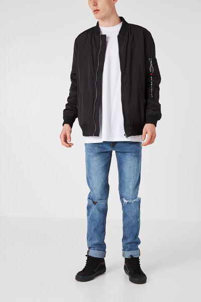 Slim Tapered Denim Jeans, VINTAGE BLUE BLAST
