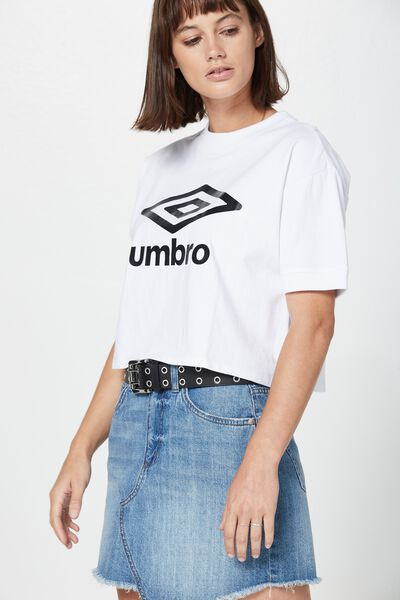 Umbro Lcn Branded Tee, UMBRO WHITE GRAPHIC