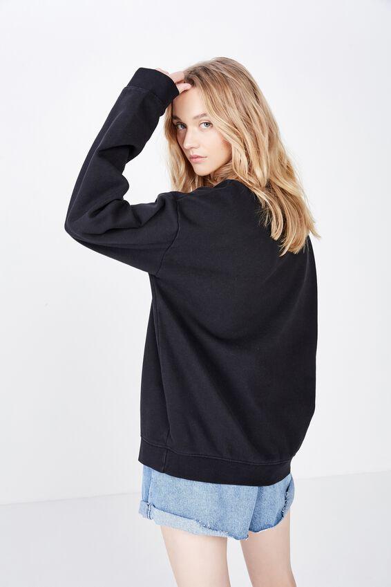 Fila Washed Crew Neck Sweater, WASHED BLACK