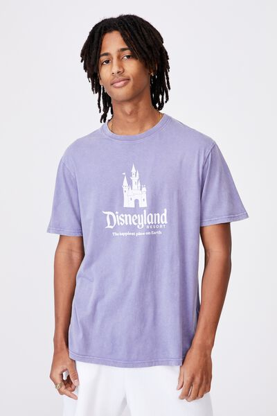Regular License T Shirt, LCN DIS WASHED GRAPE/HAPPIEST PLACE