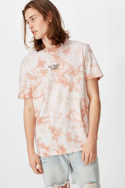 Regular Tie Dye T Shirt, ORANGE/ACID BEACH