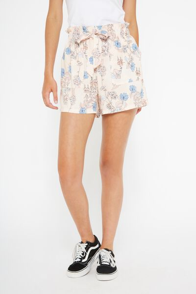 Paperbag Short (Woven) 2, FORGET ME NOT FLORAL
