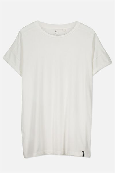 The Cap Tee, WHITE