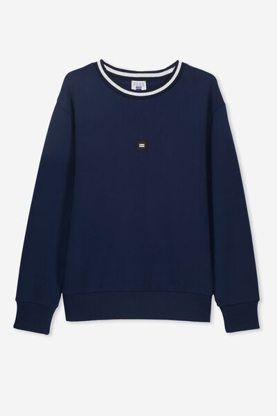 Crew Neck Jumper, NAVY