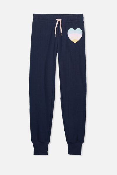 Tabitha Trackpant, OBRIEN BLUE/RAINBOW HEART