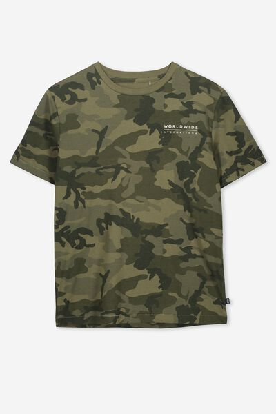 Oversized Tee, CAMO PRINT/WORLDWIDE