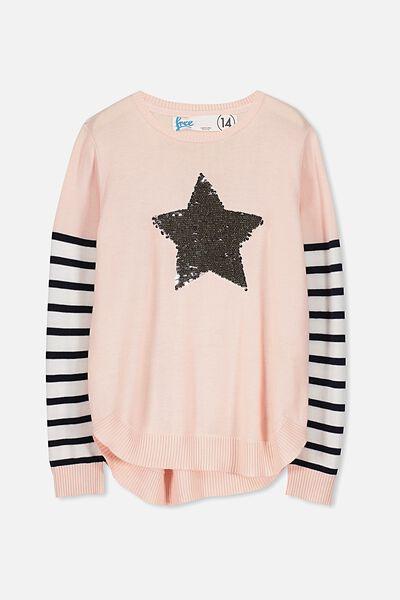 Maisie Knit, SEA PINK/IRRIDESCENT STAR