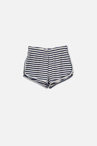 Super Soft Short, NEW PEACOAT/DARK VANILLA STRIPE
