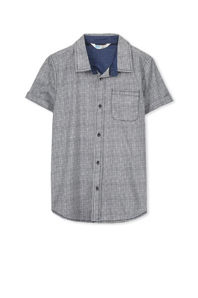 Joshua S/S Shirt, VANILLA/HATCHER2