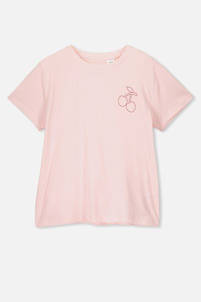 Bonnie Sleep Tee, BLUSHING BRIDE/CHERRIES