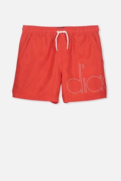 Diadora Parachute Short, RACING RED/DIADORA LOGO