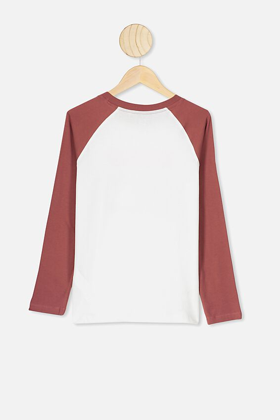 Raglan Long Sleeve Tee, HENNA