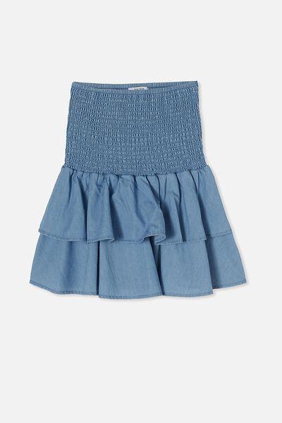 Ester Skirt, MID BLUE WASH