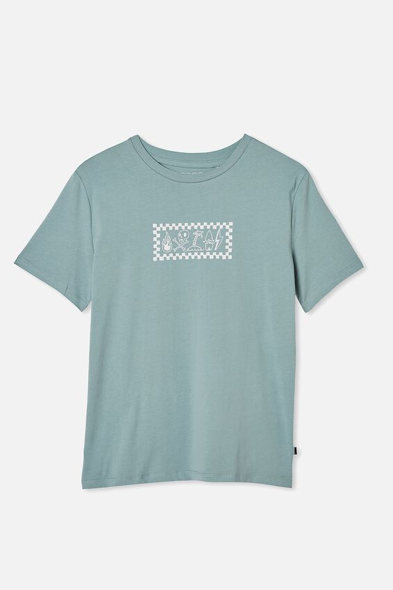 Oversized Tee, RUSTY AQUA/MORE SURF