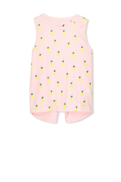Hailey Tank, PINK MAGNOLIA/PINEAPPLE