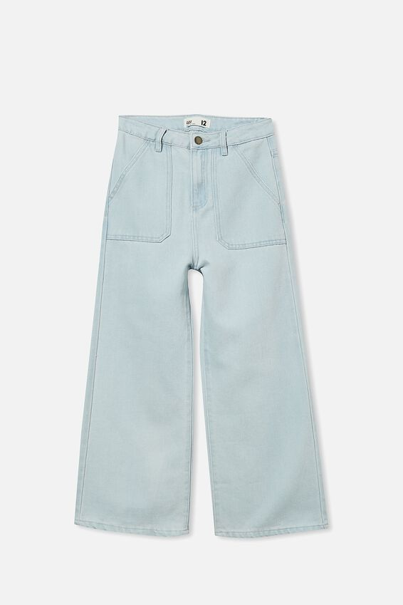 Elka Wide Leg Jean, BLEACH WASH