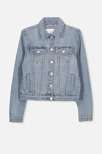 Daisy Denim Jacket, SEA BLEACH BLUE