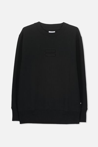 Equal Crew Neck Jumper, BLACK