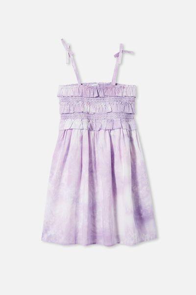 Megan Sleeveless Dress, SUMMER VIOLET TIE DYE